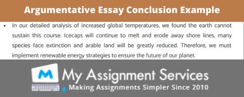Argumentative Essay Conclusion Sample