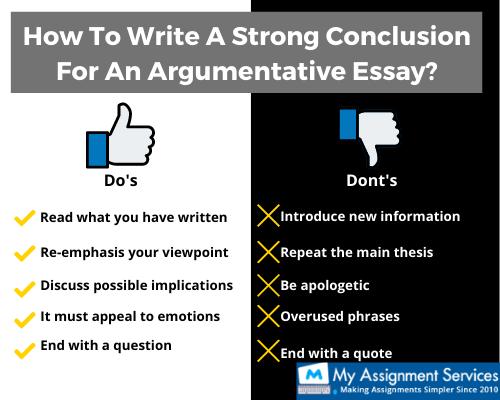 Argumentative Essay Conclusion