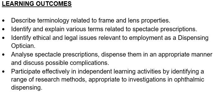 ophthalmology assessment sample 2