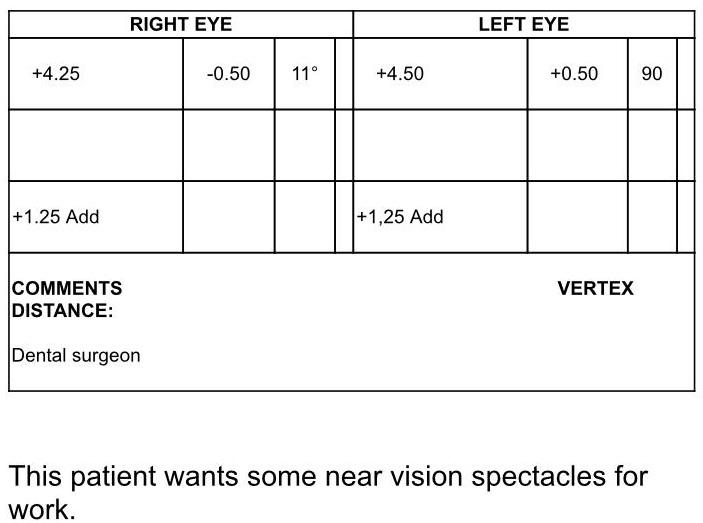 ophthalmology assessment sample 3