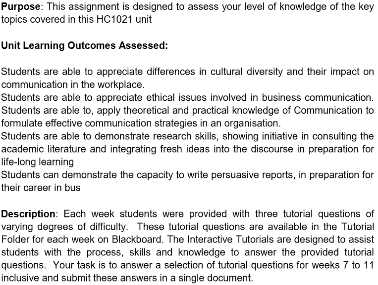 interpersonal communication assessment sample