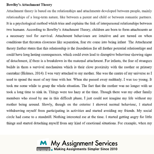 Reflective Essay Example Sample 2