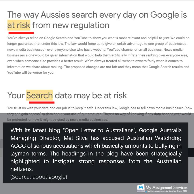 Google Open Letter