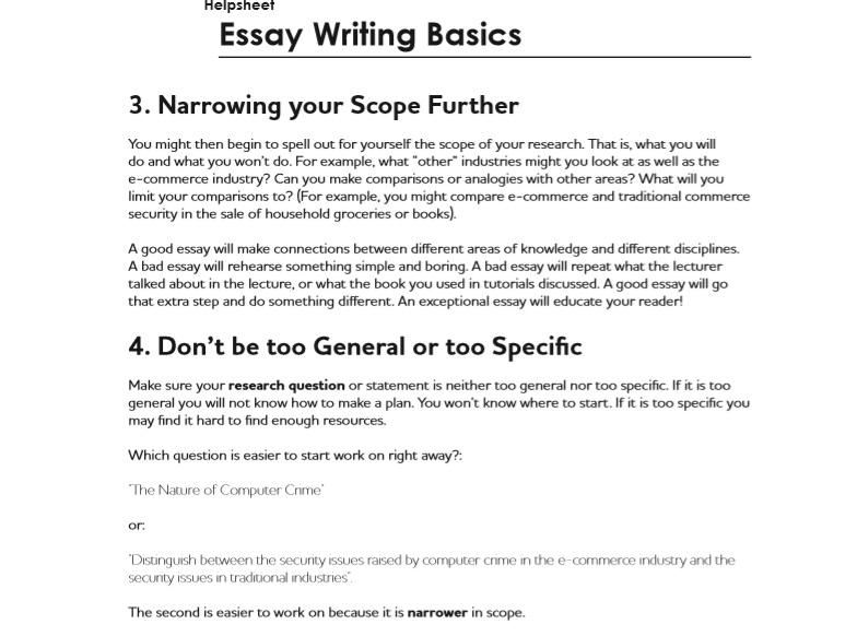 Different Sections of Essay Introduction