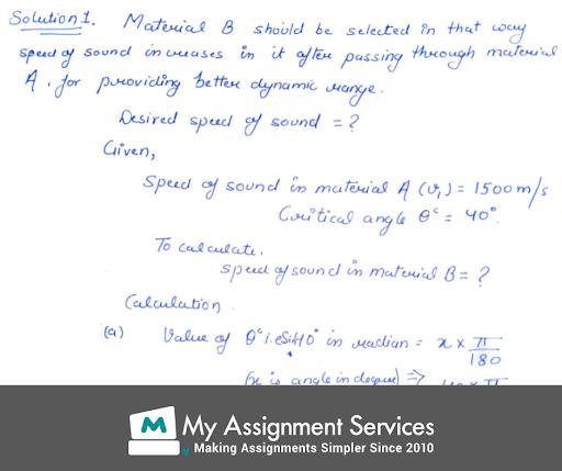 Acoustics Assignment Solution 1