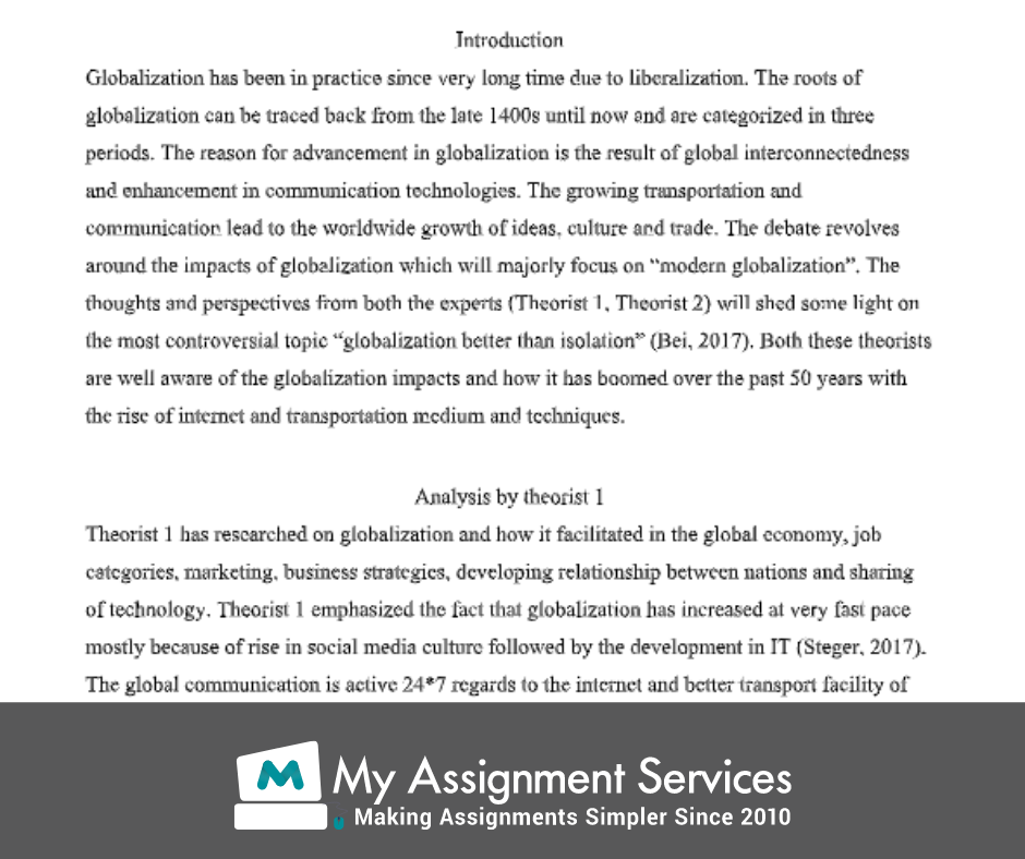 Globalisation assignment sample 2
