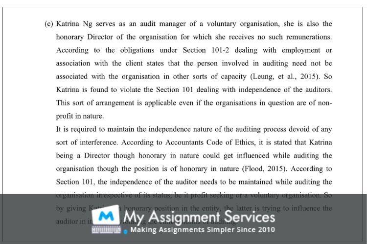 audit assessment sample