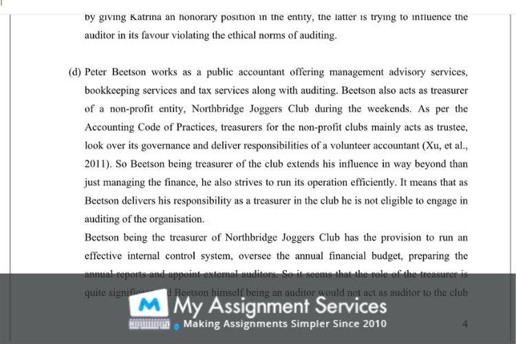 Financial Audit Assessment Sample
