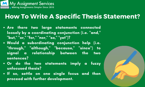 How to write a specific thesis statement