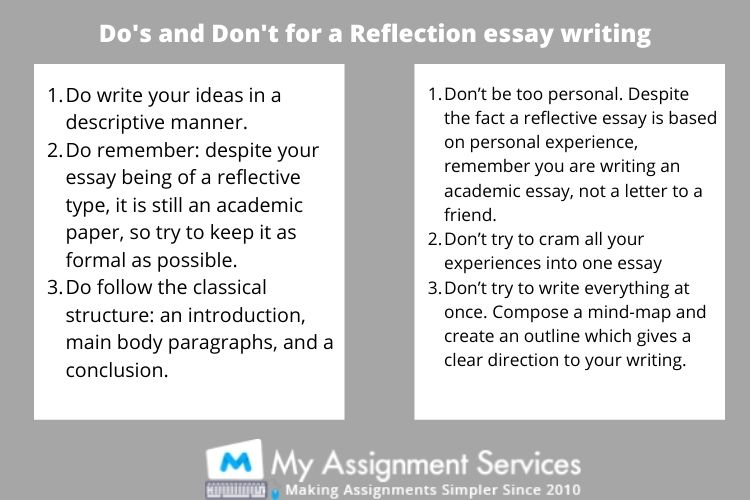 do's and don't for a reflection essay writing