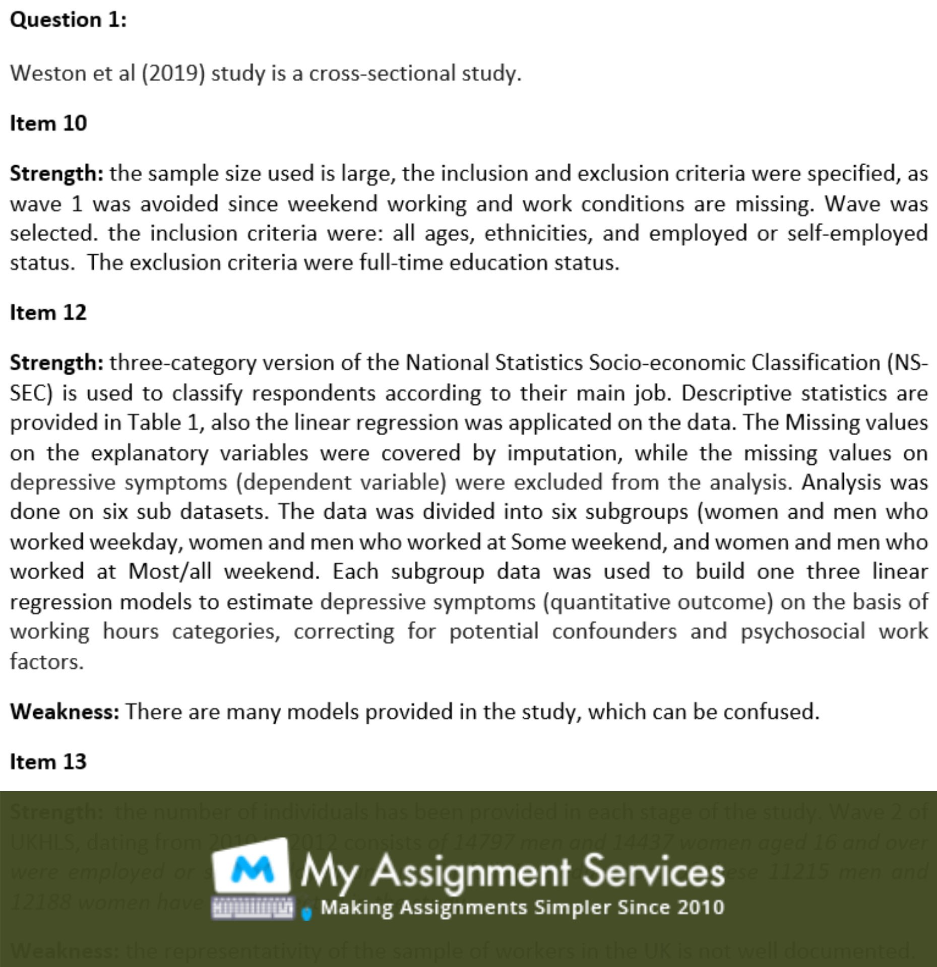 biostatistics homework assessment sample 2