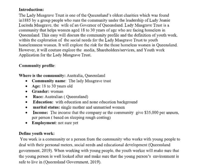 profile essay help