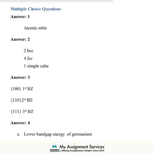 Lattice Energy Assignment Sample