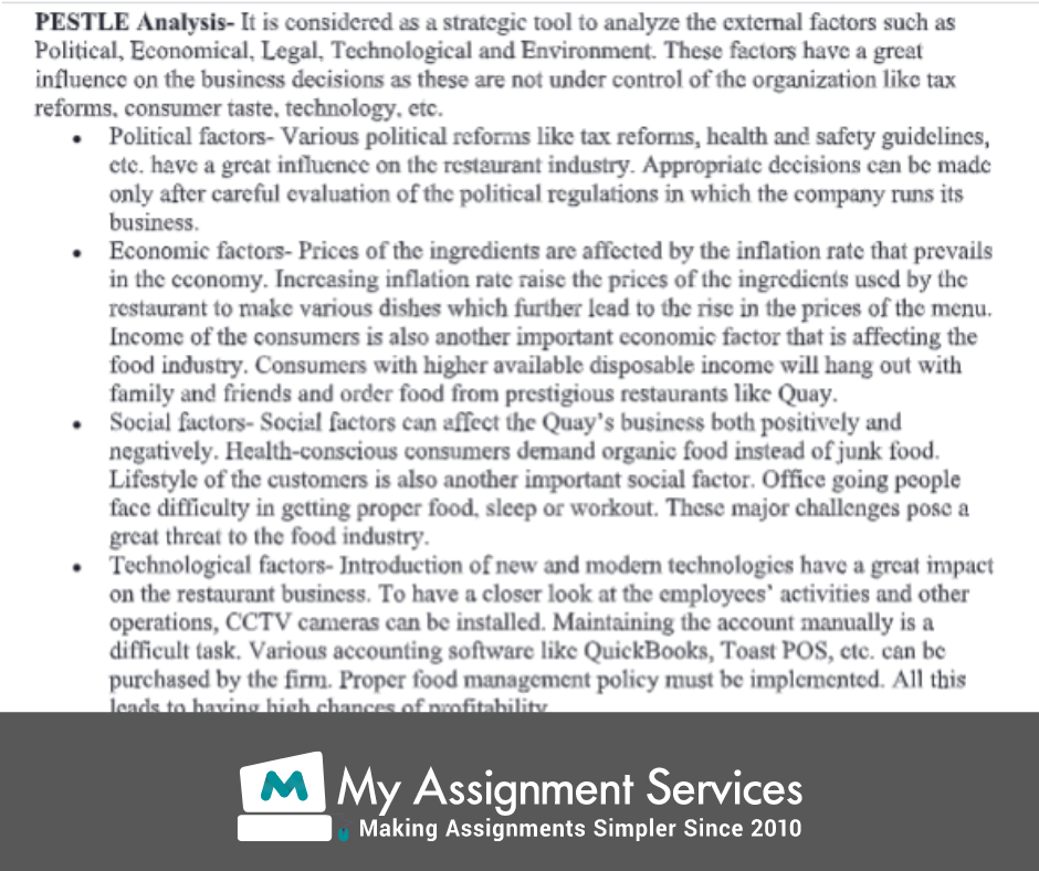 business environment assignment sample 4