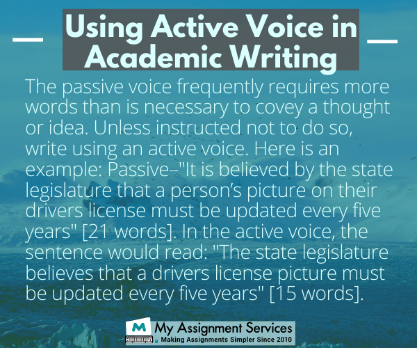 using active voice in academic writing
