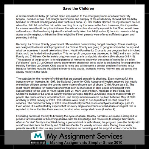 Persuasive Essay Sample