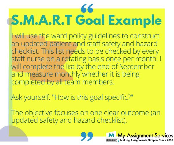 Smart Goals Example
