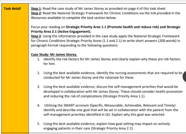 NURS2102 Chronic Care Assignment Sample