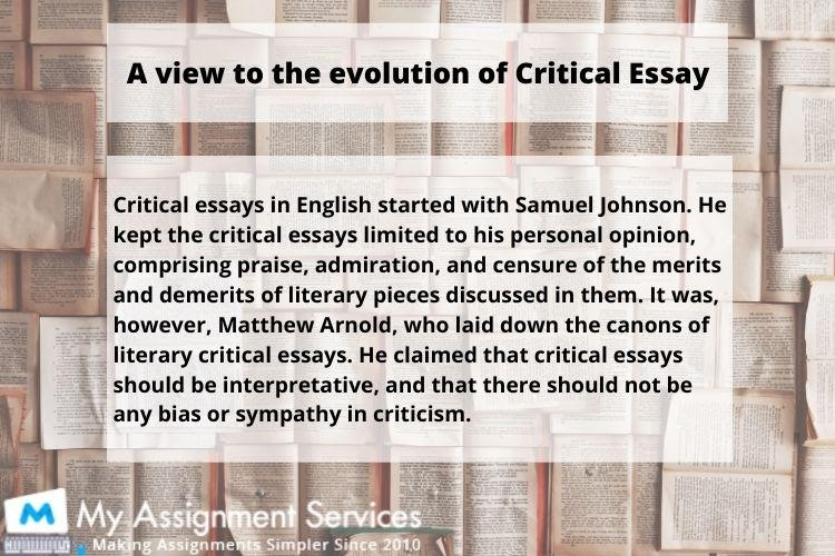 Critical Essay Examples and Samples