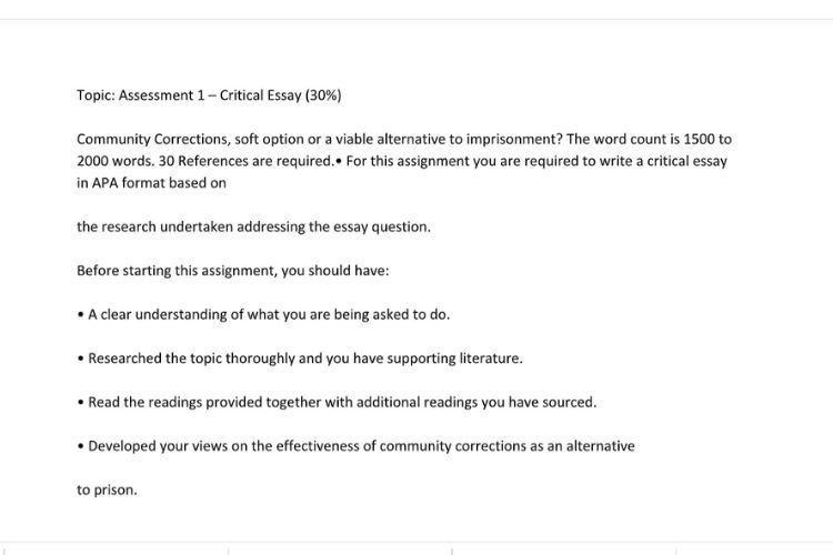 Critical Essay Examples