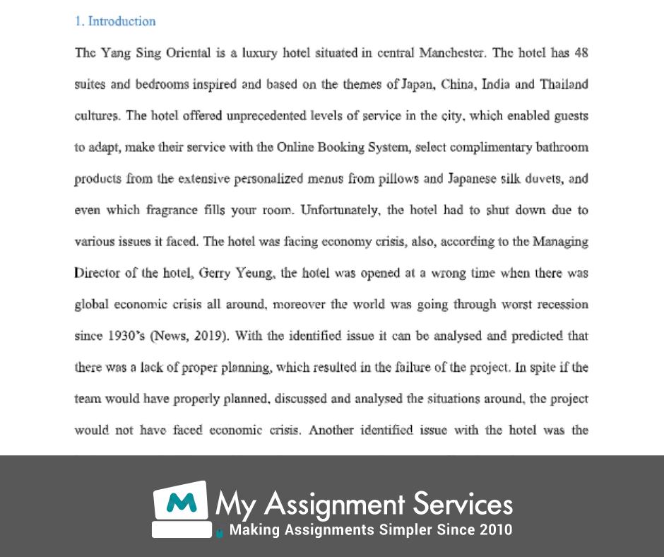 project management homework assessment solution sample