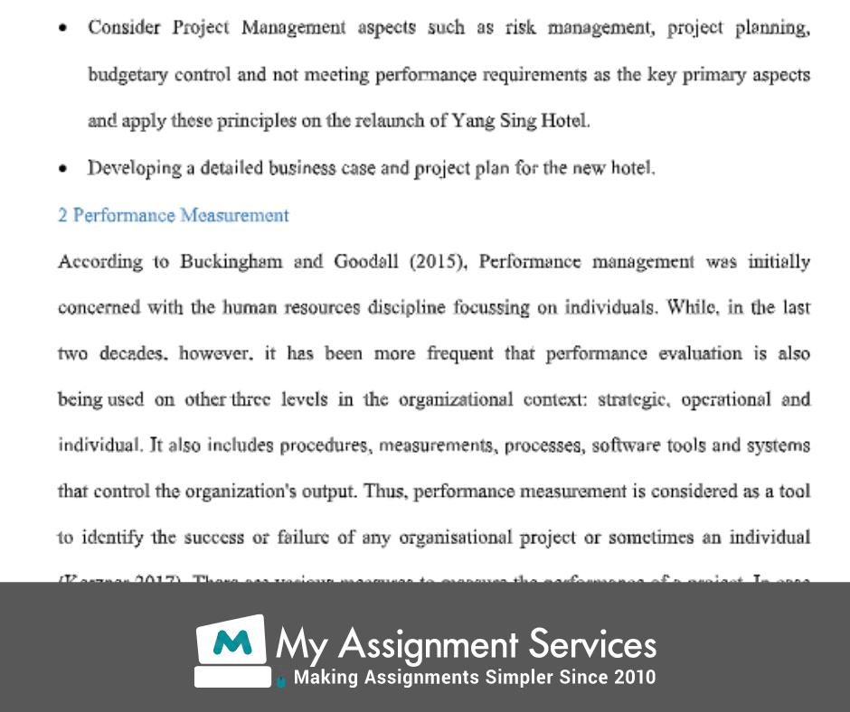 project management homework assessment solution sample 2