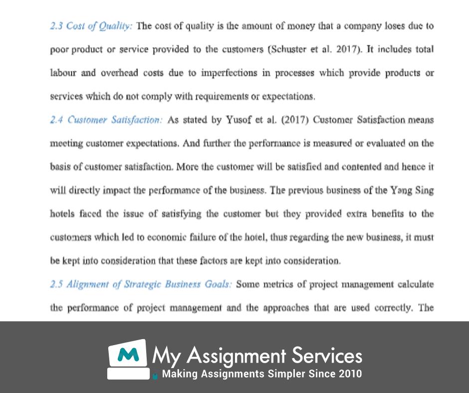project management homework assessment solution sample 3