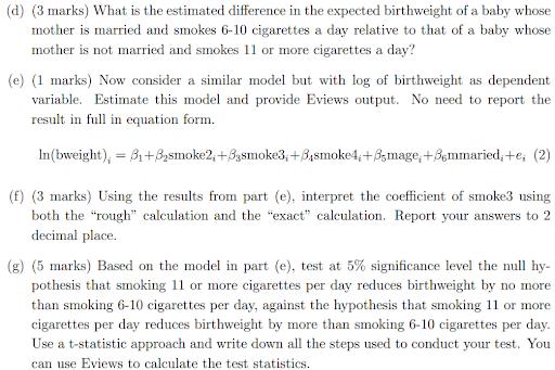 Econometrics homework