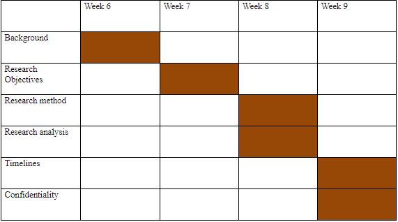 image of a Gantt Chart
