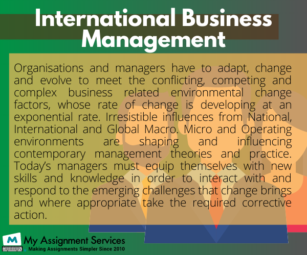 Contemporary Issues and International Management Assignment Help