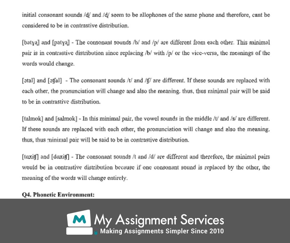 sociolinguistics assignment services