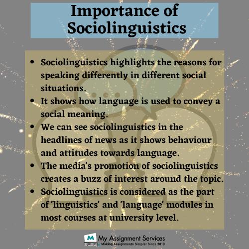 Importance of sociolinguistics