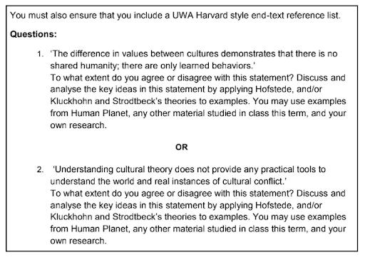 humanities homework question USA