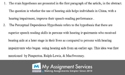 Psycholinguistics Assignment Sample
