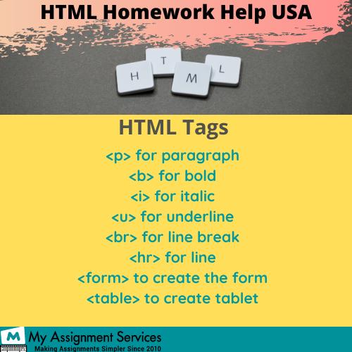 HTML homework help online