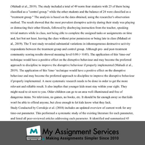 child psychology assignment help service