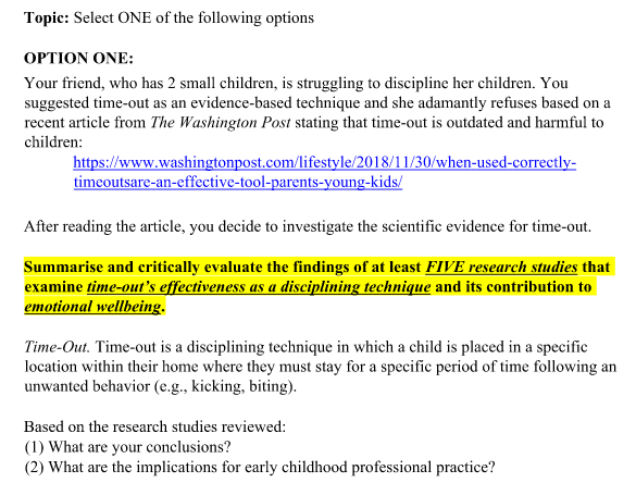 Child Psychology Assignment Help