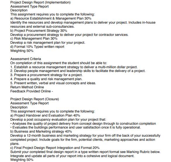 project design report