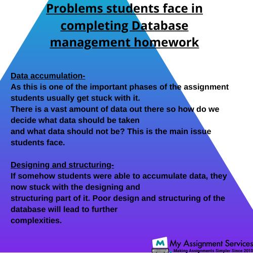 Database Management Homework Help