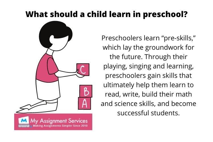 preschool homework help in the USA