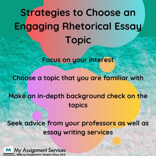 rhetorical essay topics online