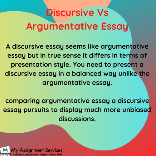 discursive essay help