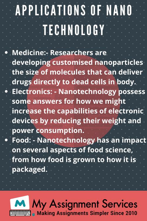 Nano Technologies homework help