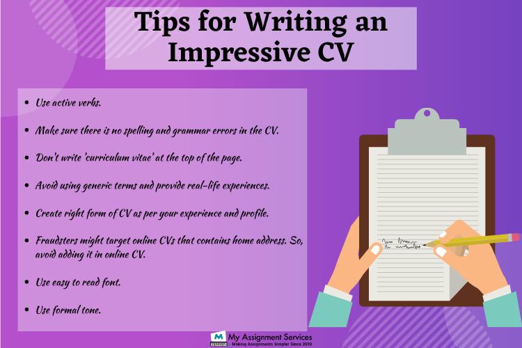 tips for writing impressive CV