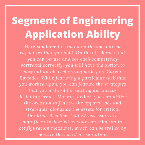 Segment of Engineering Application Ability