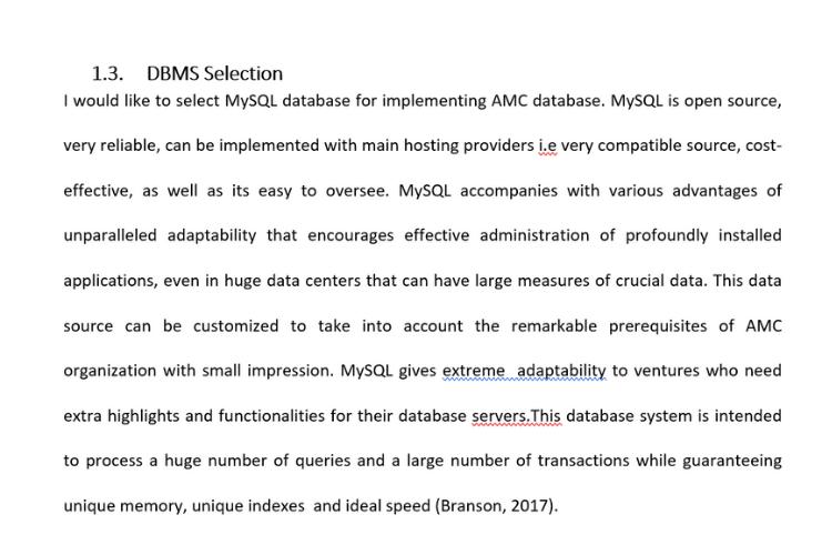 Database dissertation help Solution