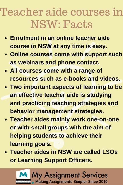 certificate III in education support (teacher's aide)