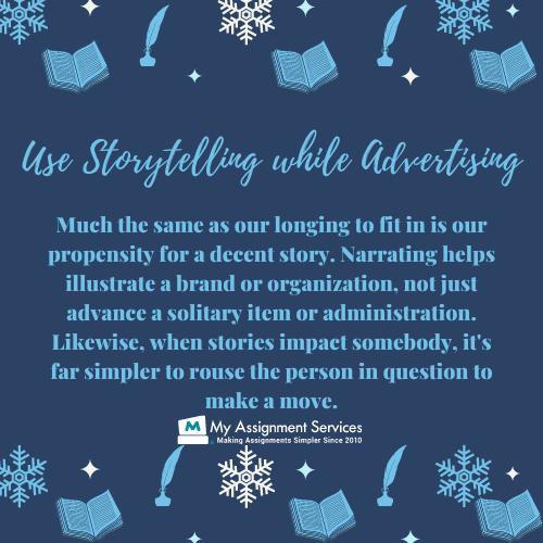 Use Storytelling while Advertising