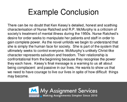 Nursing assignment conclusion example