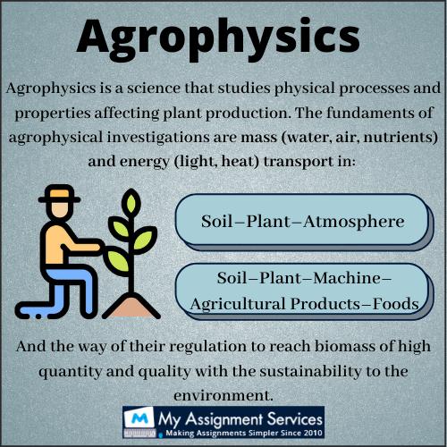 agrophysics assignment help